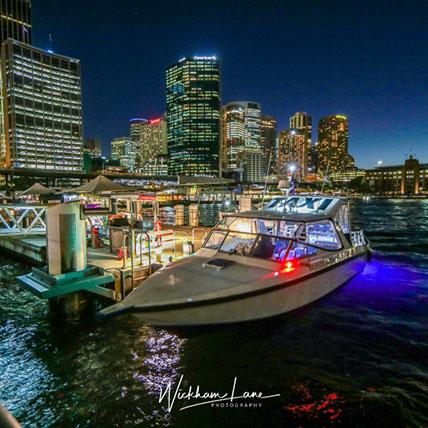 Cityscape witrh water taxi Sydney