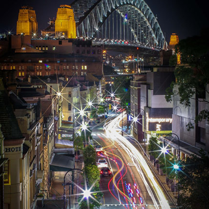 George st and the bridge Sydney