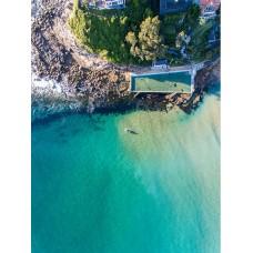 Palm Beach Ocean Baths - Framed 1200x760mm