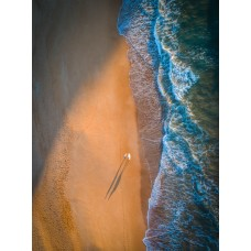 Sunrise Surfers Shadow - Framed 1200x 970mm